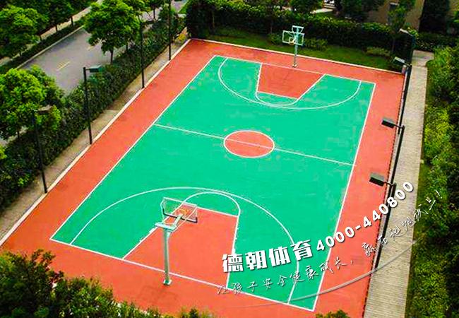 学校塑胶篮球场材料