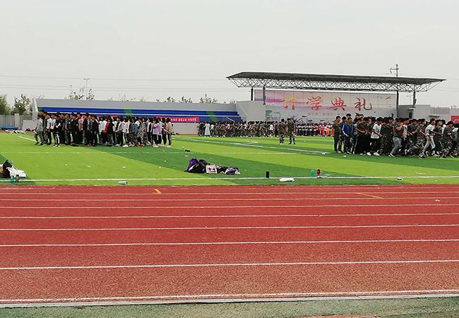 河南范县卓越中学混合型塑胶跑道完美收官!