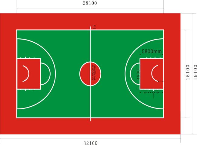 WPPU水性篮球场