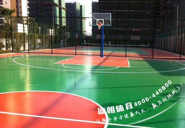 甘肃硅PU篮球场