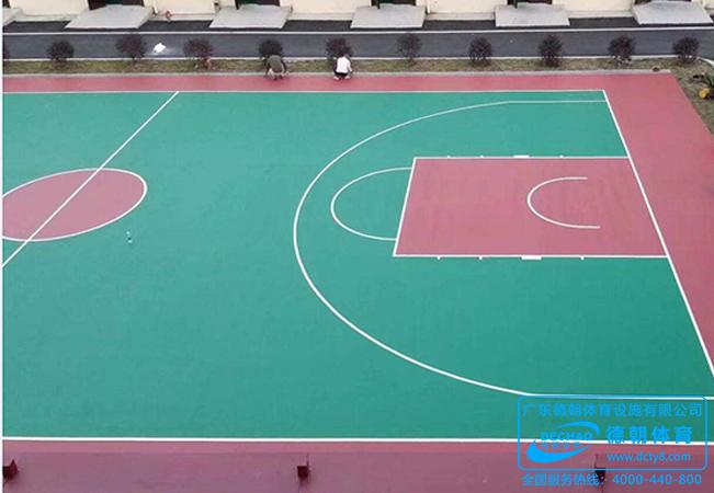 操场防滑硅PU塑胶篮球场面层施工