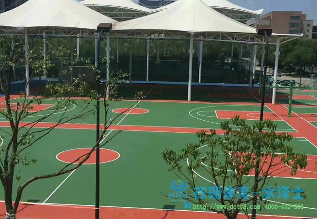 美美的丙烯酸篮球场完工啦