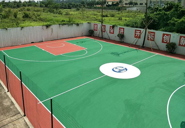 广东佛山南海中铁建工集团室外丙烯酸篮球场顺利完工!