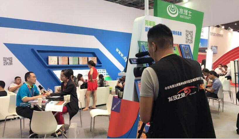 德朝体育2017上海体博会记者采访现场