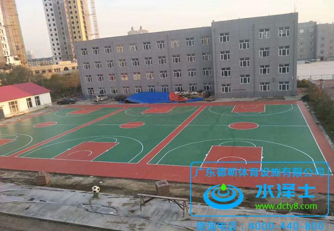 室外塑胶篮球场