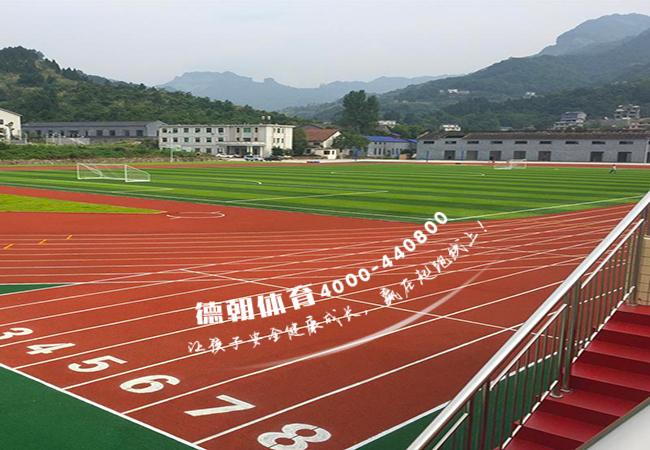 学校混合型塑胶跑道施工