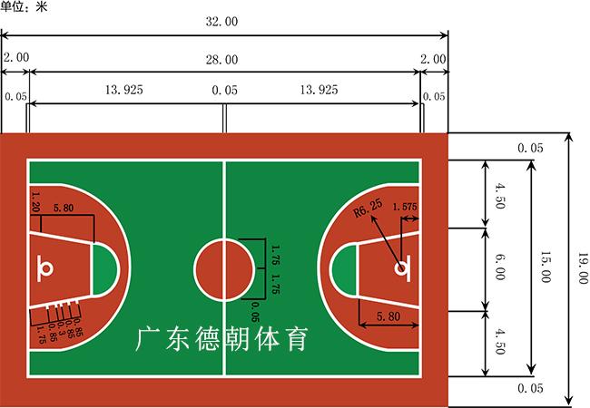 学校塑胶篮球场