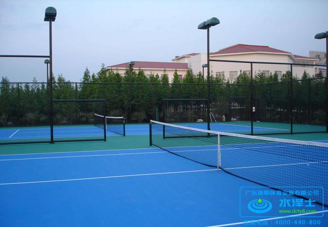 学校塑胶网球场