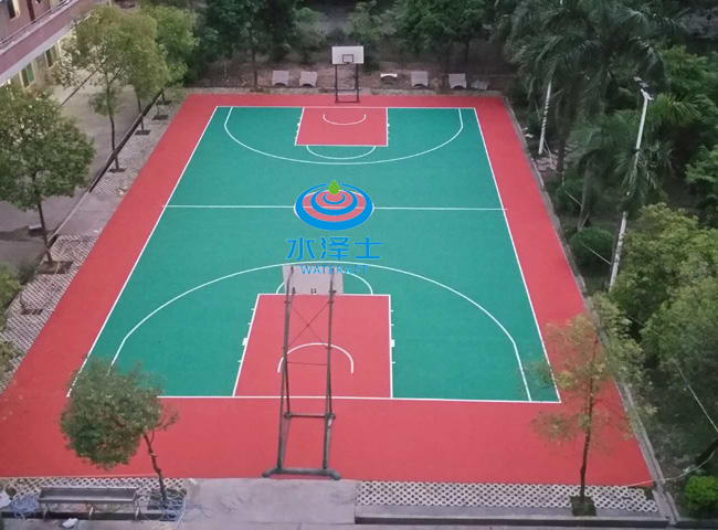 室外丙烯酸篮球场材料