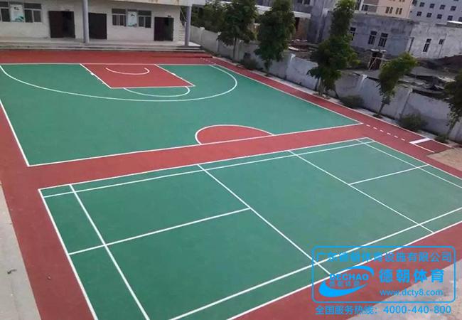 学校水性丙烯酸塑胶球场面层施工