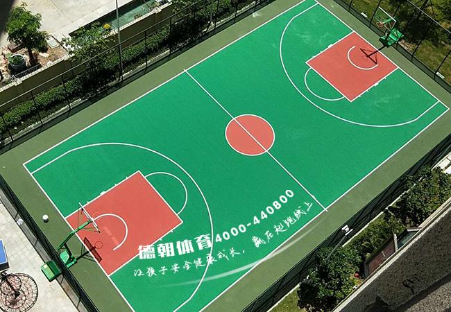 广东汕头丙烯酸篮球场