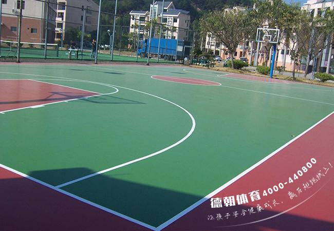 塑胶丙烯酸篮球场