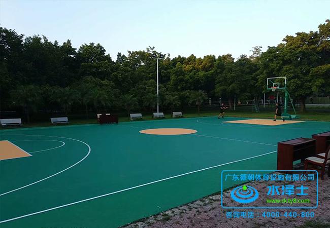 塑胶篮球场地面