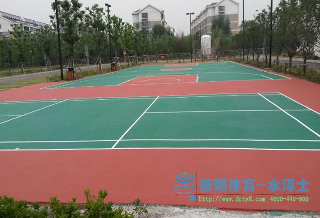 丙烯酸篮球场及网球场完工