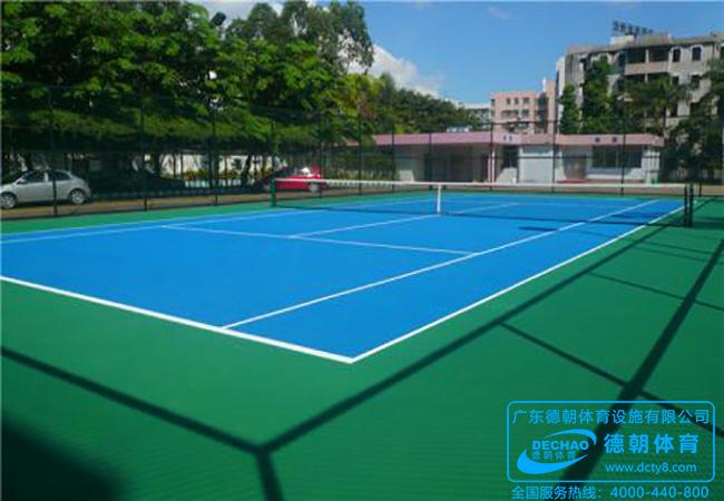 室外硅PU网球场地