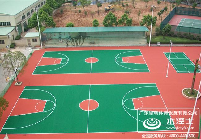 学校硅PU塑胶球场