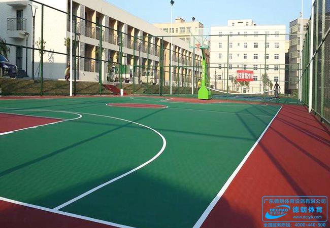 学校环保丙烯酸塑胶运动场地面工程