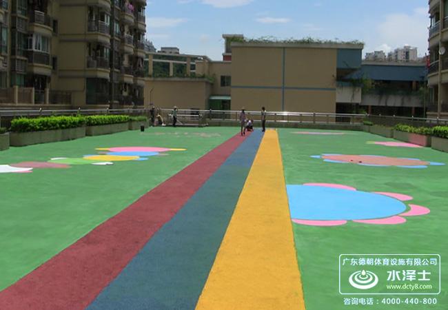 幼儿园地面防滑epdm安全地垫铺设