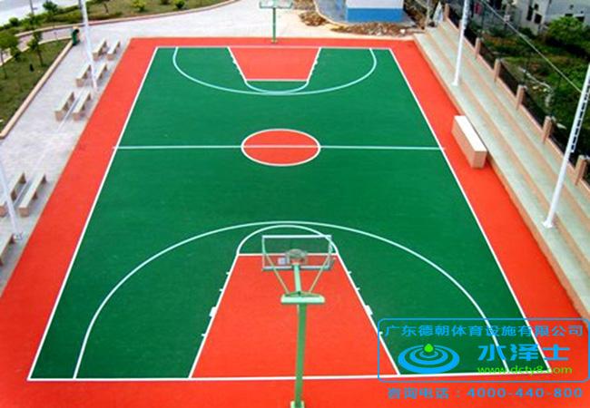 室外硅PU篮球场施工
