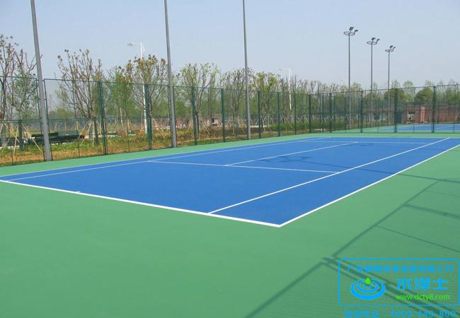 学校塑胶网球场铺设
