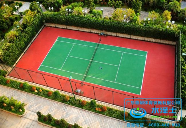 室外硅PU网球场
