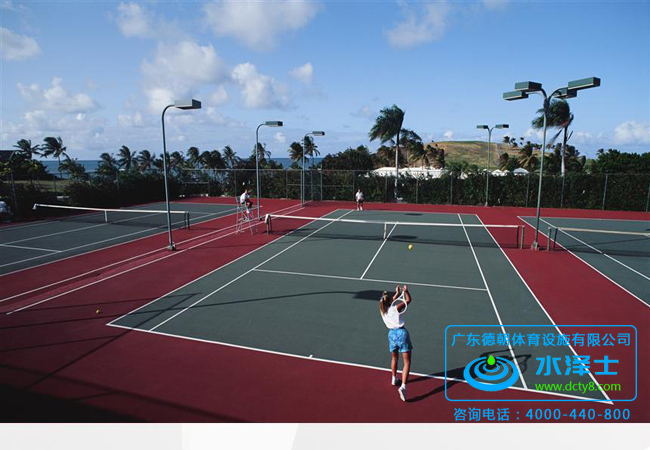 弹性丙烯酸网球场