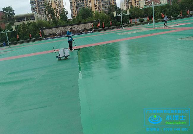 贵州塑胶球场跑道