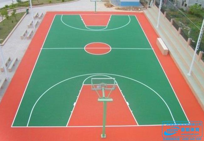 环保硬地丙烯酸篮球场