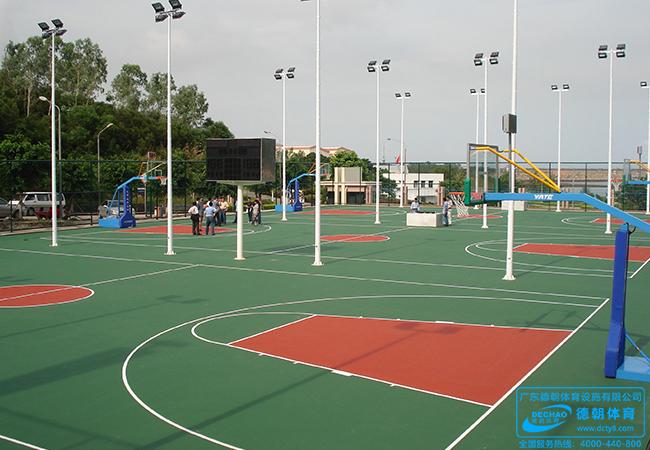 学校环保丙烯酸体育运动场地