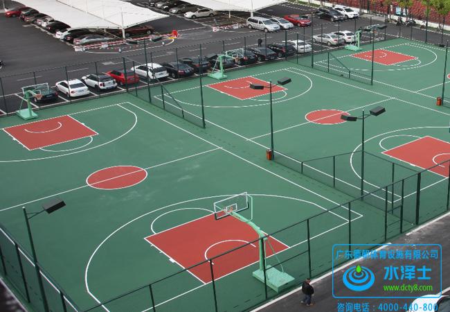塑胶硅PU篮球场材料