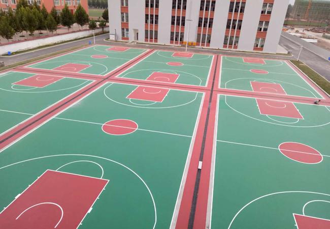 硅PU篮球场材料